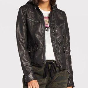 Free people monroe vegan leather jacket